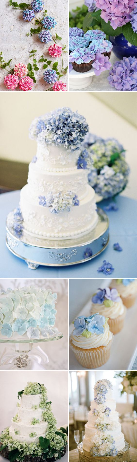 37 Beautiful Ways to decorate your wedding with hydrangeas - Desserts: