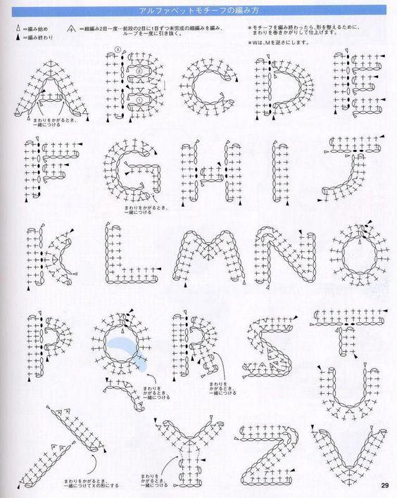 crochet alphabet ✿⊱╮Teresa Restegui http://www.pinterest.com/teretegui/✿⊱╮                                                                                                                                                     Más
