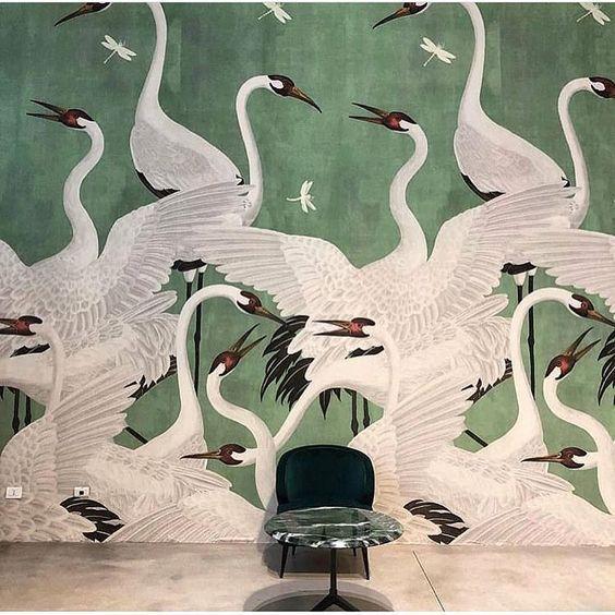 GRULLAS | Murales, Papel pintado de casa, Habitaciones con papel ...