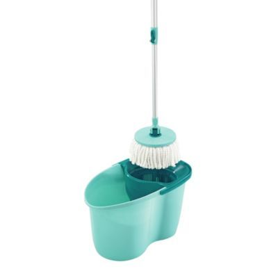 Leifheit Clean Twist Active Spin Mop Bucket Set Blue Cleaning Microfiber Cleaning Cloths Clean Microfiber