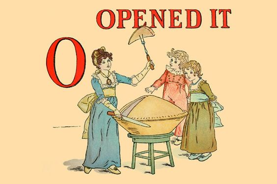 O - Opened It, by Kate Greenaway