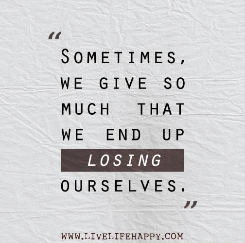 Dont lose yourself...