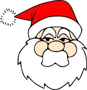Santa Line Art clip art - vector clip art online, royalty free ...