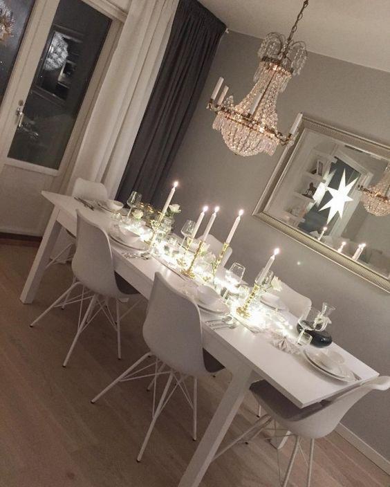 Elegancka aranżacja białej jadalni - Lovingit.pl: