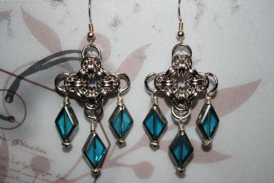 Chainmaille Chandelier Earrings
