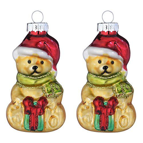 2pcs Set Blown Glass Bears Figurines Decoration Christmas Https Www Amazon Com Dp Christmas Tree Decorations Hanging Ornaments Glass Christmas Decorations