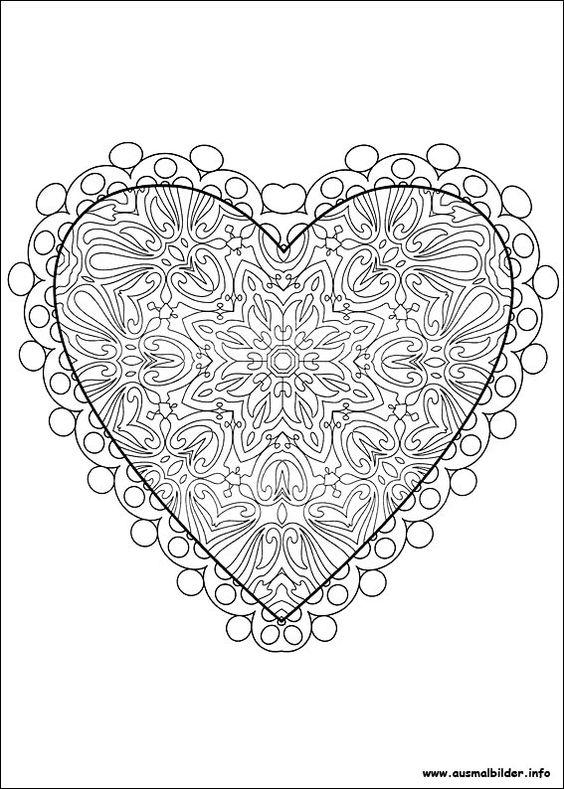 Valentinstag malvorlagen | bastelideen | Pinterest | Färben ...