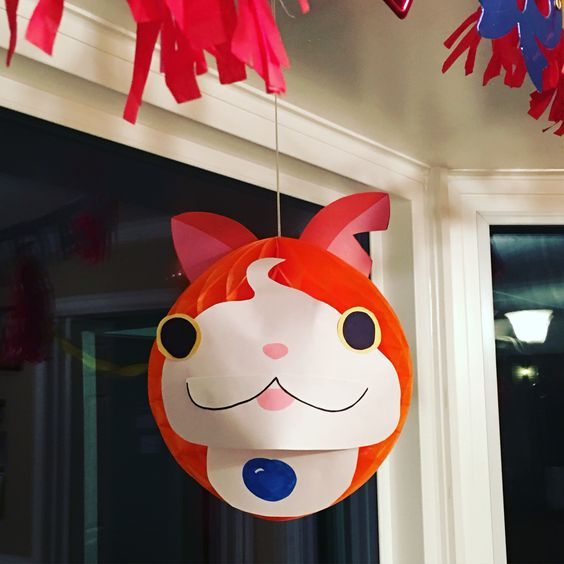 diy yo kai watch decoration for birthday artsy