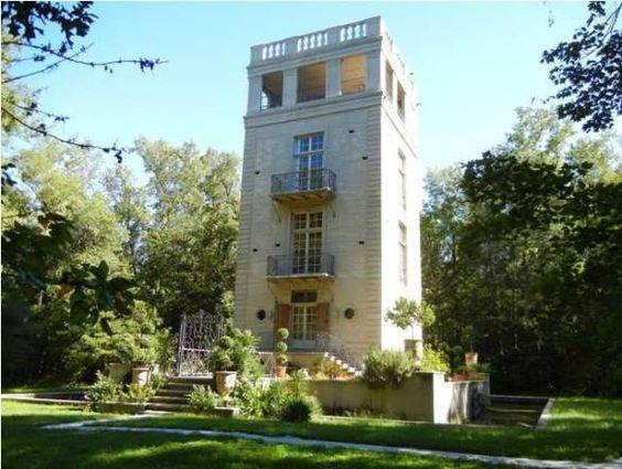 "INTERESTING: ""Pavilion de Lac Martin"", a neo-gothic French chateau tucked away in Breaux Bridge, LA."