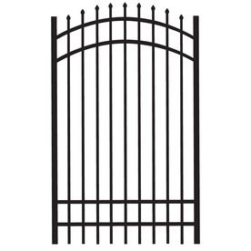Freedom Black Aluminum Fence Gate Common 72 In X 48 In