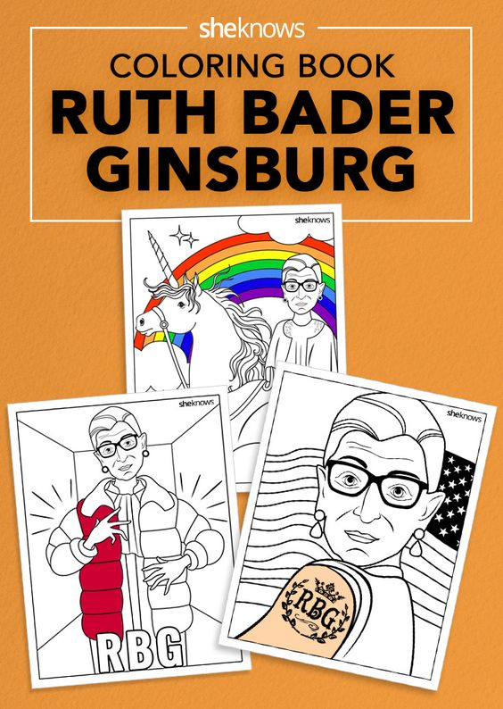 the ruth bader ginsburg coloring book you didnt know you needed and its - Outside The Lines Coloring Book