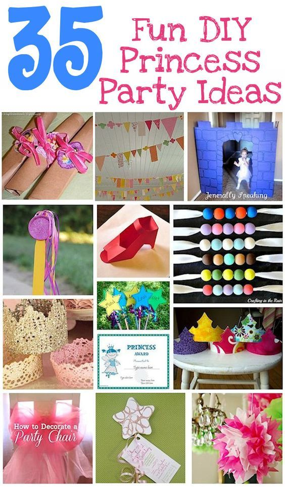 35 Diy Princess Party Ideas If You Are Planning A Princess Themed Party Check Out This Co Diy Princess Party Princess Party Decorations Princess Theme Party