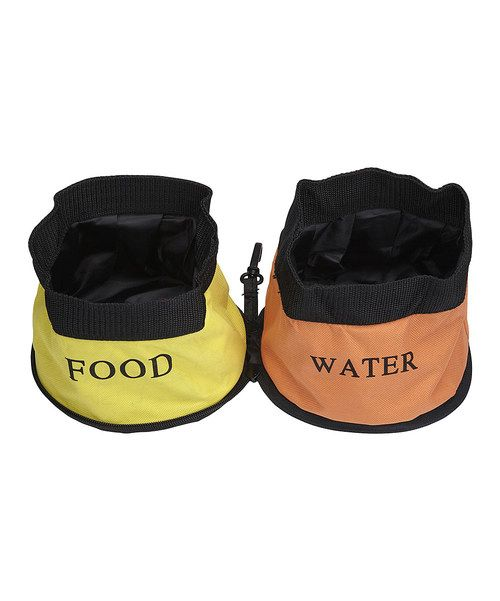 This dual pet bowl collapses to less than one inch thick and is great for travel and camping. It also sports an exterior made from authentic seat belt material and a waterproof, double-ply interior.