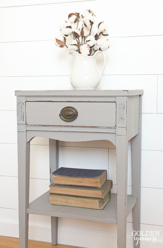 Classic Gray End Table Bedroom End Tables Painted End Tables Decor