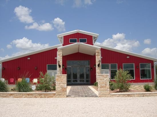 Big red barndominium | Pole barn houses | Pinterest ... Huge Barndominium