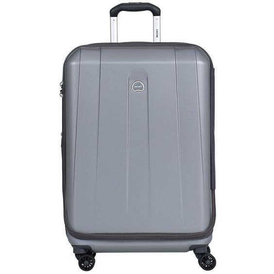 Delsey Helium Shadow   Spinner Suiter Trolley (€145) ❤ liked on Polyvore featuring men's fashion and platinum