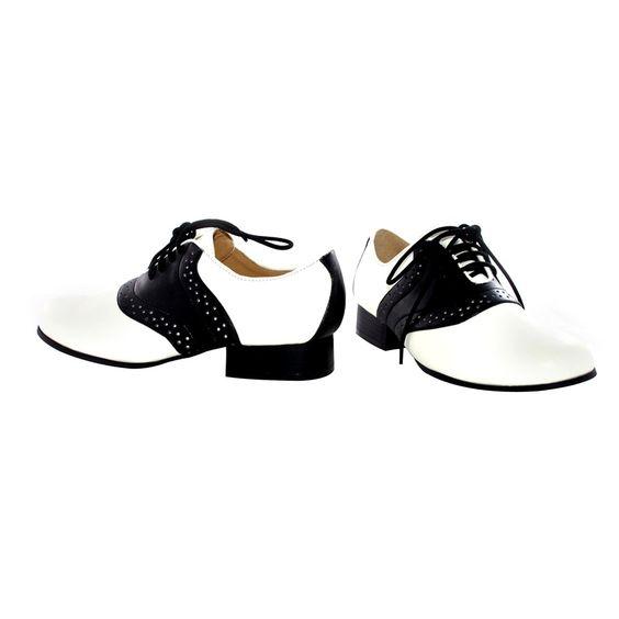 Adult Saddle Shoes Black and White Size