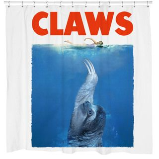 Curtains Ideas best curtain prices : White 'Claws' Sloth Shower Curtain   Shopping, The o'jays and Sloths