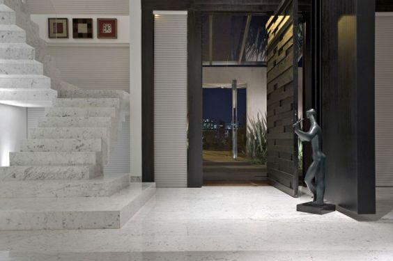 porta de entrada prta com relevo blog reforma arquitetura assim eu gosto