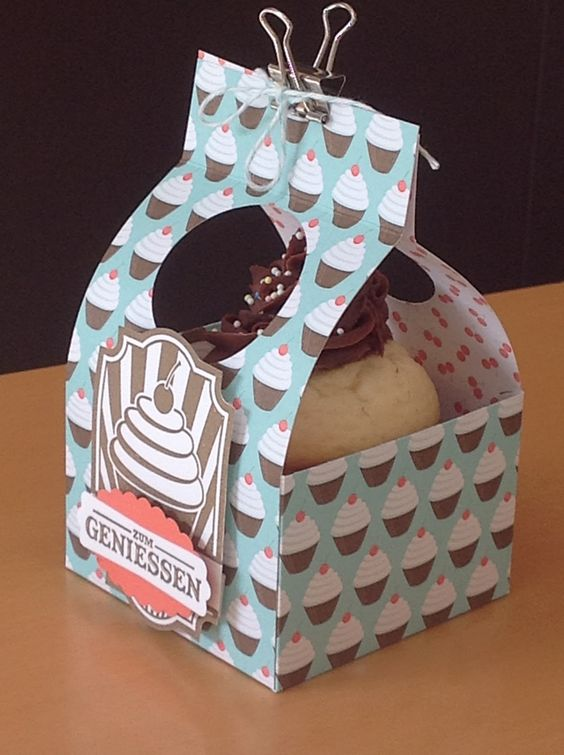 Cupcake Box Maybe Use Double Sided Tape To Closethe Top
