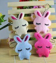 1 STÜCK Niedlichen Kaninchen Baby Weichem Plüsch Kinder Baby Spielzeug Cartoon Kaninchen Umarmung Herz Bowkot Füllte Spielwaren Geschenk(China (Mainland))