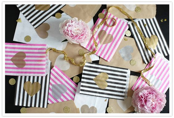 100 Layer Cake heart bags