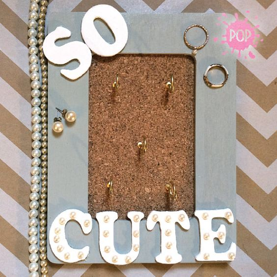 So Cute Hand Painted 4in x 6in Jewlery by PaintedOnPretty on Etsy