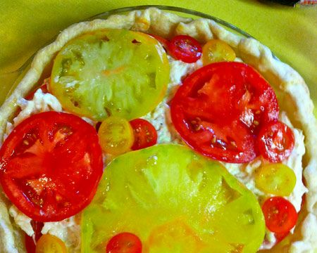Green Tomato and Cheddar Pie Recipe-Sub the mayo with greek yogurt...maybe?