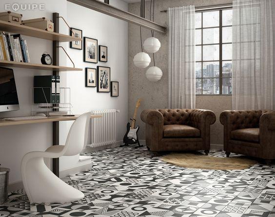 Pasión por los suelos decorados - Decorabien.com Decorabien.com #suelos #azulejos #ceramica #hidraulico #salon #vintaje #decoracion #interiorismo #diseño #deco #hogar #piso #estilo #ambientes #butacas #roquero