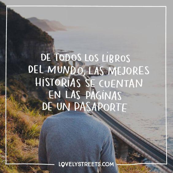 ¡Buenos días! ¿Qué historias esconden las páginas de tu pasaporte?  #lovelystreets #quotes #travelquotes #adventures