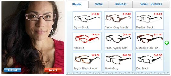 Glasses USA try it mirror