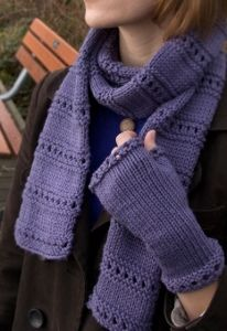 Free Knitting Patterns For Christmas Scarves :