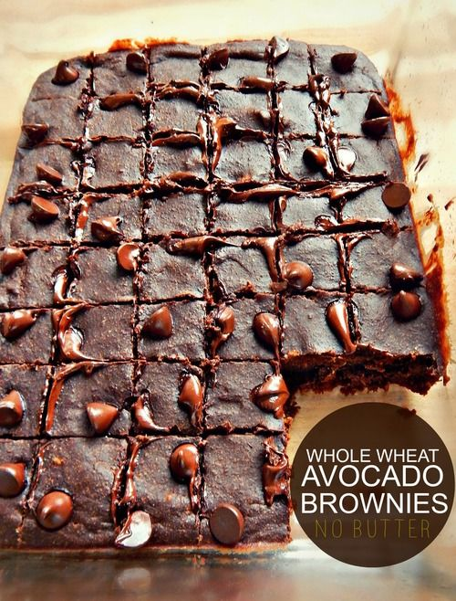 Healthy Whole Wheat Avocado Brownie Bites! (No Butter & Low Sugar)