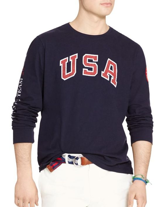 Polo Ralph Lauren Team Usa Vintage Graphic Slim Fit Tee