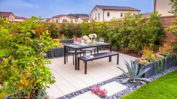Dining Area at Rear Yard - Modern - Landscape - Orange County - by Studio H Landscape Architecture