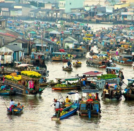 Floating Vegetable Markets, Mekong Delta, Southern Vietnam- an incredible agricultural experience.