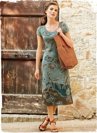 Batik flowers on Pima Cotton Dress