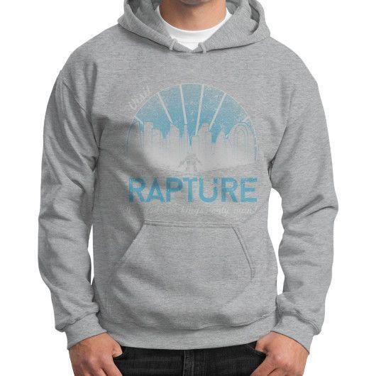 Visit Rapture Gildan Hoodie (on man)