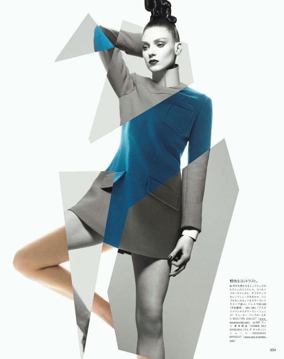 Geometric Shapes, Cut Out, Abstract, Disjointed, By Sølve Sundsbø  #creativeportraitphotography   Creative Portrait Photography   Pinterest    Shapes, Fashion ...  Fashion Poster Design