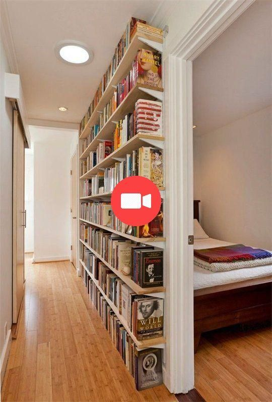 Small Secrets Space 7 Ways To Make Most Of Your Corridors Small With Images Home Library Rooms Small Home Libraries Home Library Diy