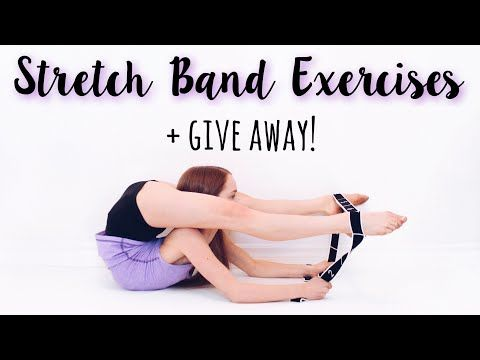 How To Improve Flexibility Using A Stretch Band Give Away Youtube Flexibility Dance Stretch Band Exercises Stretch Bands