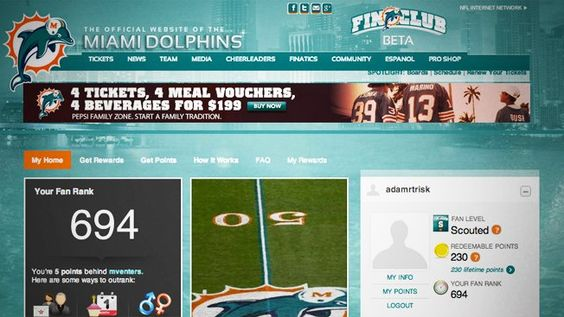 Miami Dolphins Connect Online, In-Stadium Loyalty