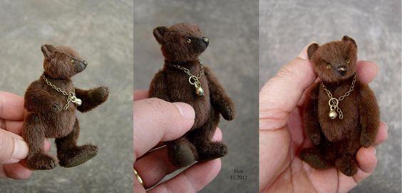 Hob, Miniature Brown Bear from Aerlinn Bears.