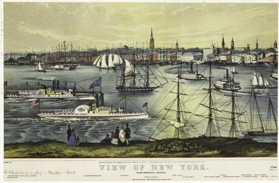 Emerald meteors in 1849: fast times at Brooklyn Heights.