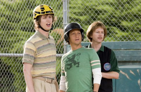 Rob Schneider David Spade And Jon Heder In The Benchwarmers 2006 The Benchwarmers Movie Character Costumes Funny Movies