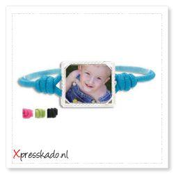 Elastische armband met foto