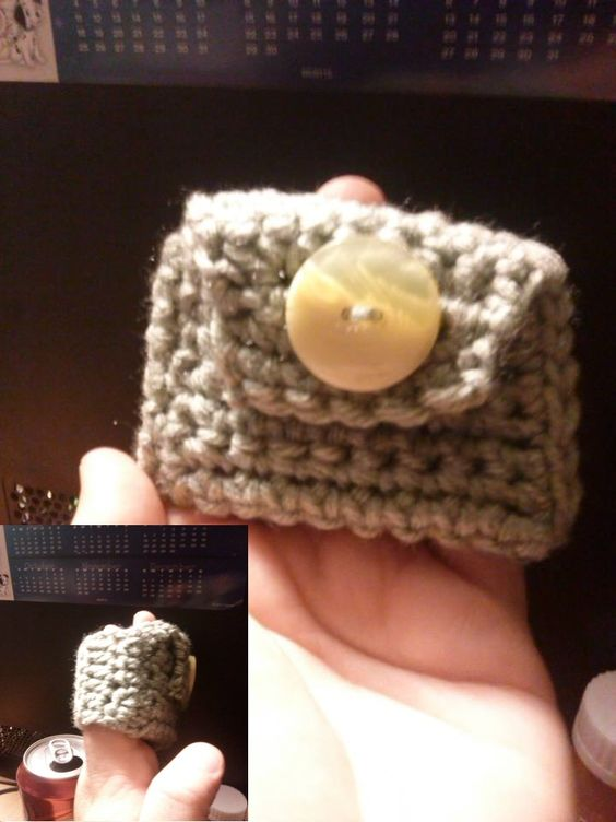 Wrist pouch for carrying small items.~Kimberly Davis~