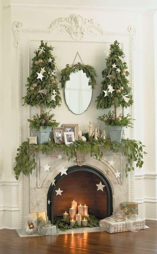 Decorazioni Natalizie Per Il Camino.Decorazioni Shabby Chic Per Natale Camino Di Natale Vacanze Di Natale Idee Di Viaggio