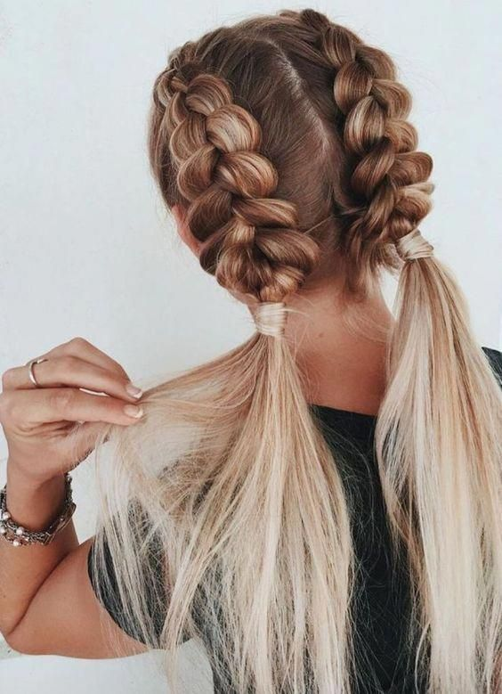 14 Ridiculously Easy 5 Minute Braided Hairstyles Hair Styles Model Hair Braided Hairstyles Easy