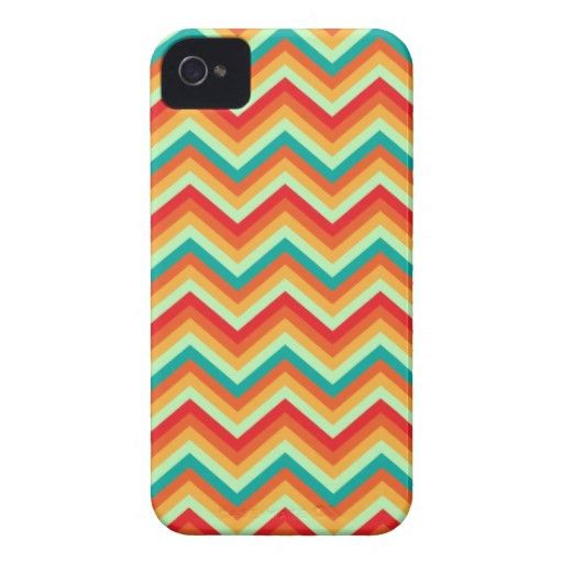 iPhone Case Retro Zig Zag Chevron Pattern iPhone 4 Case-Mate Cases